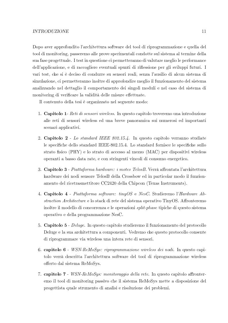 Anteprima della tesi: Sistema per la riprogrammazione wireless ed il monitoraggio delle reti di sensori wireless, Pagina 4
