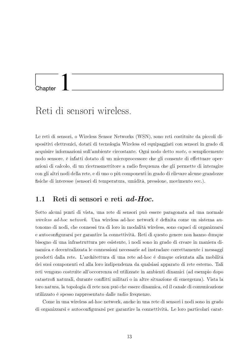 Anteprima della tesi: Sistema per la riprogrammazione wireless ed il monitoraggio delle reti di sensori wireless, Pagina 6