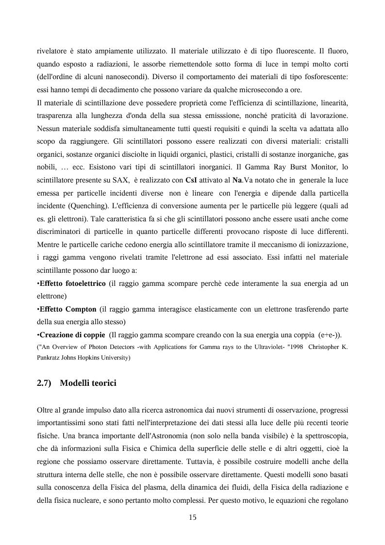 Anteprima della tesi: Ricerca automatica di eventi transienti e problemi di archiviazione ed analisi dei dati del satellite per astronomia X BeppoSAX, Pagina 10