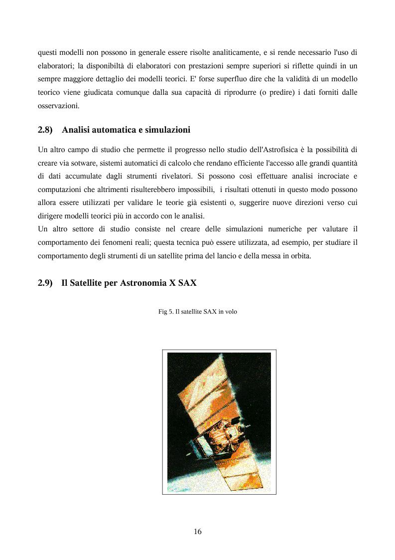 Anteprima della tesi: Ricerca automatica di eventi transienti e problemi di archiviazione ed analisi dei dati del satellite per astronomia X BeppoSAX, Pagina 11