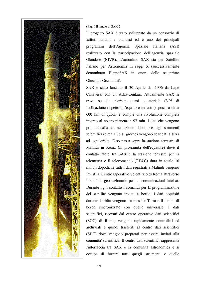 Anteprima della tesi: Ricerca automatica di eventi transienti e problemi di archiviazione ed analisi dei dati del satellite per astronomia X BeppoSAX, Pagina 12
