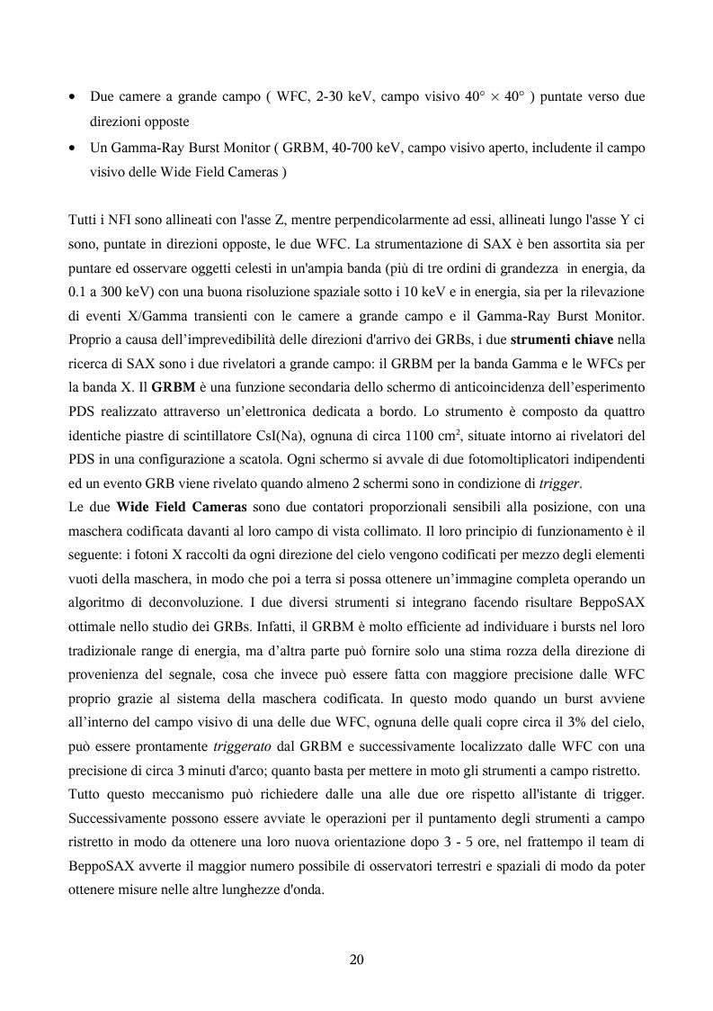 Anteprima della tesi: Ricerca automatica di eventi transienti e problemi di archiviazione ed analisi dei dati del satellite per astronomia X BeppoSAX, Pagina 15