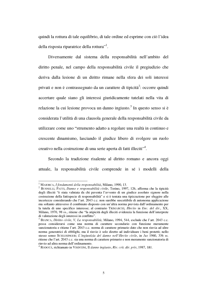 Anteprima della tesi: Gli obblighi di protezione e la teoria del contatto sociale, Pagina 2