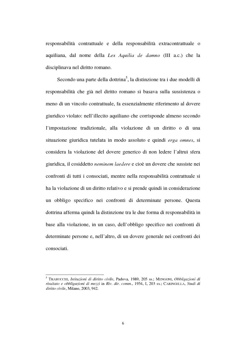 Anteprima della tesi: Gli obblighi di protezione e la teoria del contatto sociale, Pagina 3