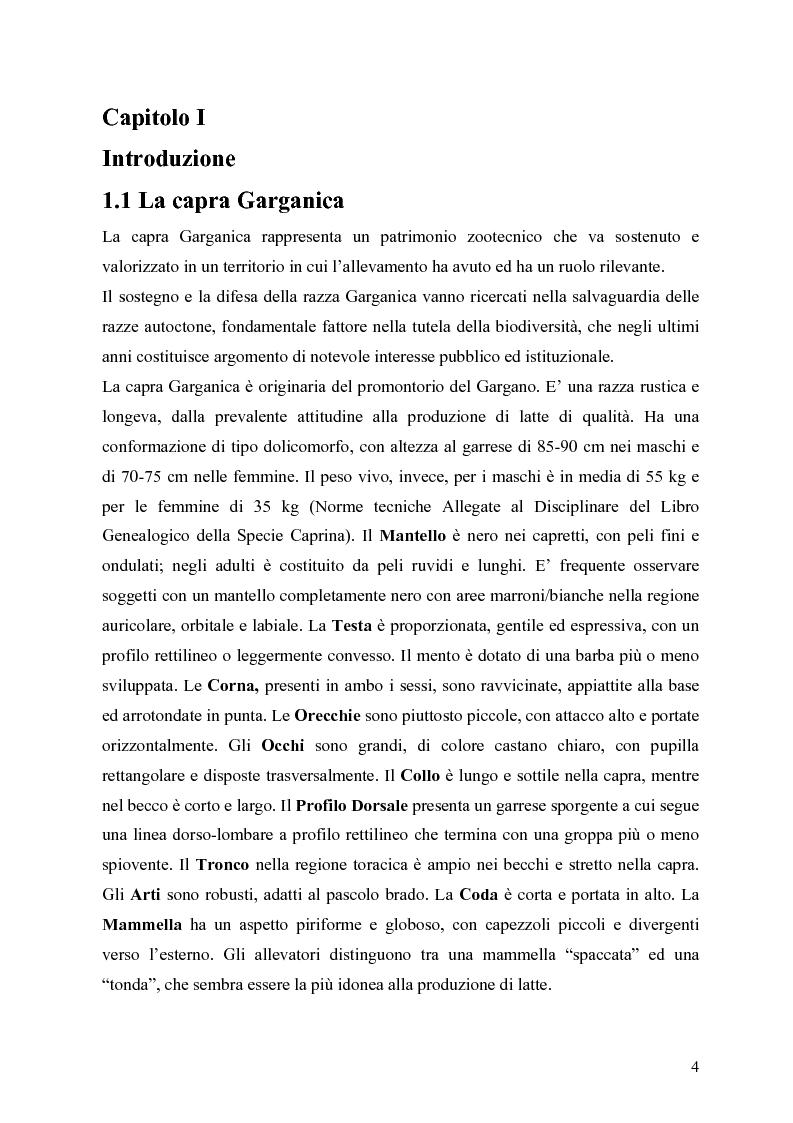 Anteprima della tesi: Caratterizzazione enzimatica ed elettroforetica del latte di capra Garganica, Pagina 1