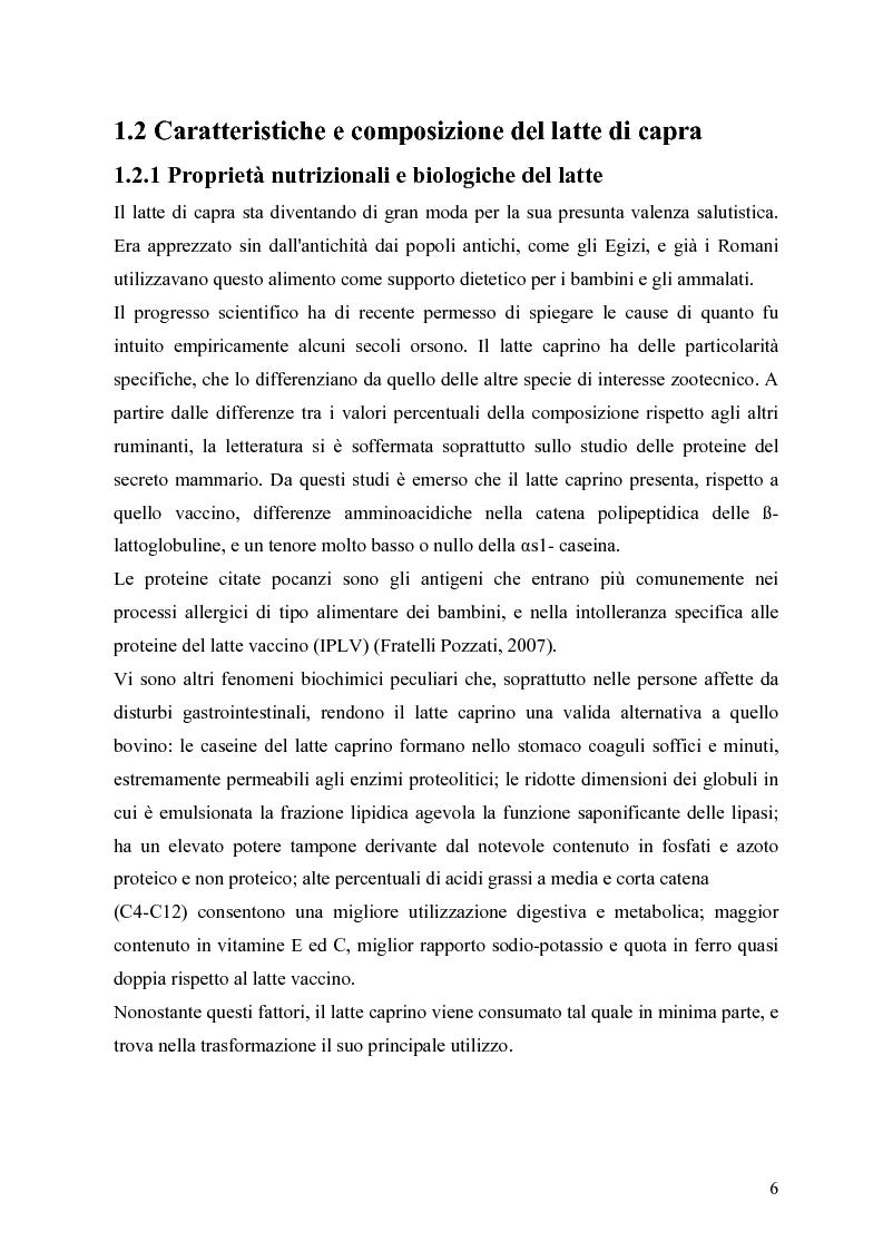 Anteprima della tesi: Caratterizzazione enzimatica ed elettroforetica del latte di capra Garganica, Pagina 3