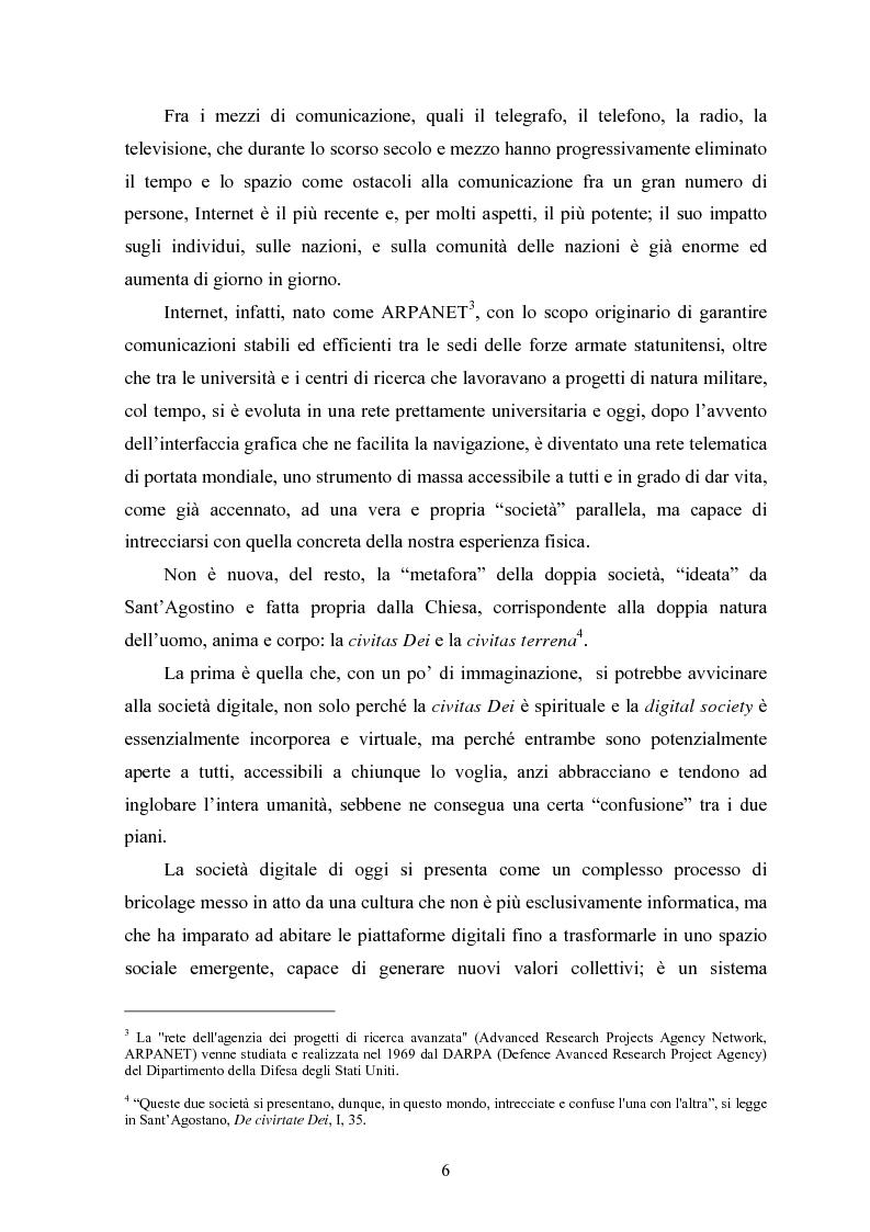 Anteprima della tesi: Per una critica della società digitale - Approfondimenti e caratteri di una discussione in corso, Pagina 2