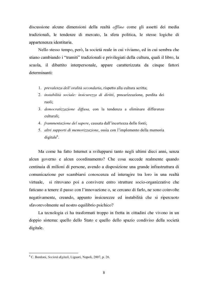 Anteprima della tesi: Per una critica della società digitale - Approfondimenti e caratteri di una discussione in corso, Pagina 4