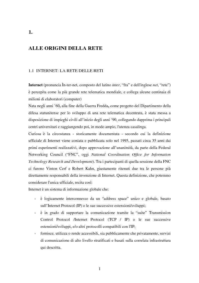 Anteprima della tesi: Detenzione di materiale pedopornografico (art. 600-quater C.P.) e Internet. Legislazione, casistica e questioni giurispudenziali., Pagina 1