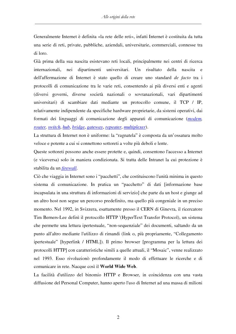 Anteprima della tesi: Detenzione di materiale pedopornografico (art. 600-quater C.P.) e Internet. Legislazione, casistica e questioni giurispudenziali., Pagina 2