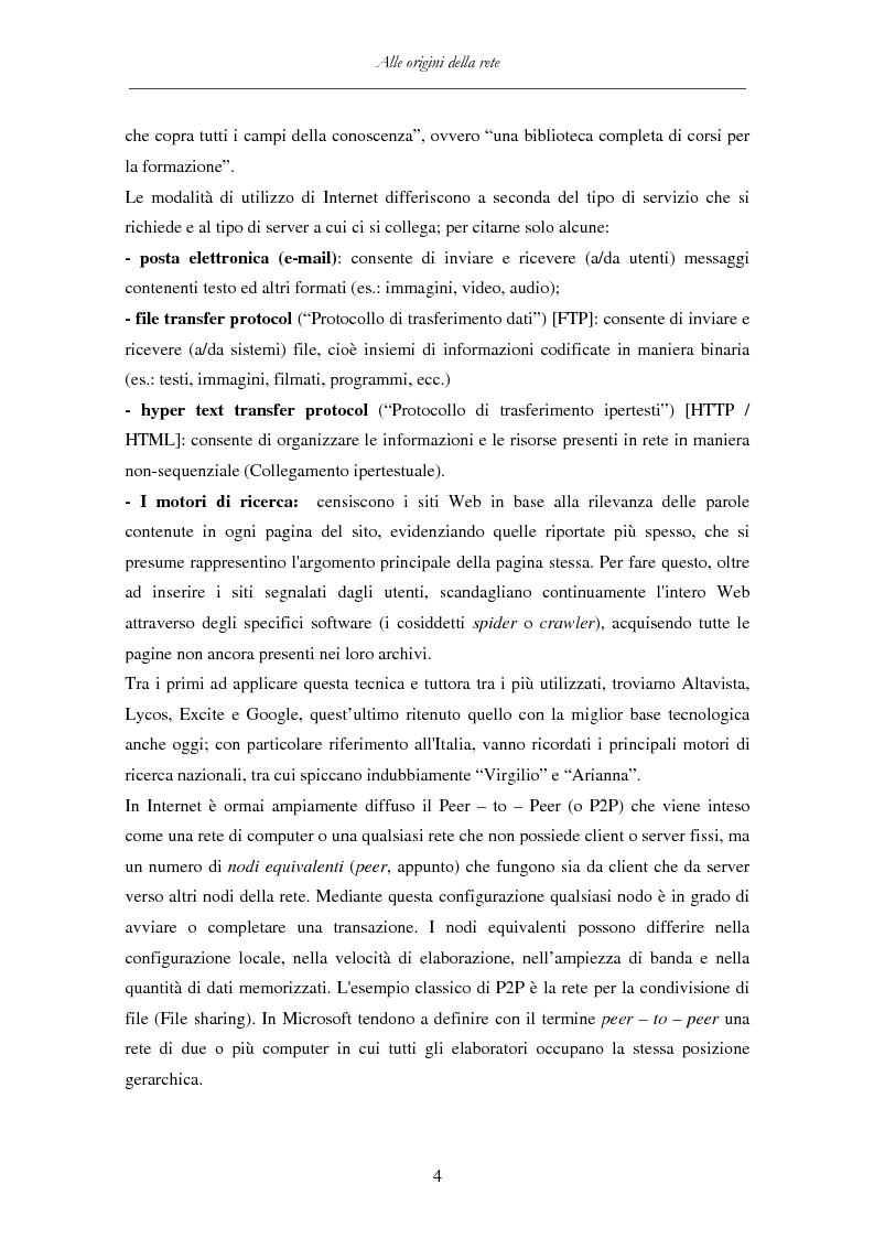 Anteprima della tesi: Detenzione di materiale pedopornografico (art. 600-quater C.P.) e Internet. Legislazione, casistica e questioni giurispudenziali., Pagina 4