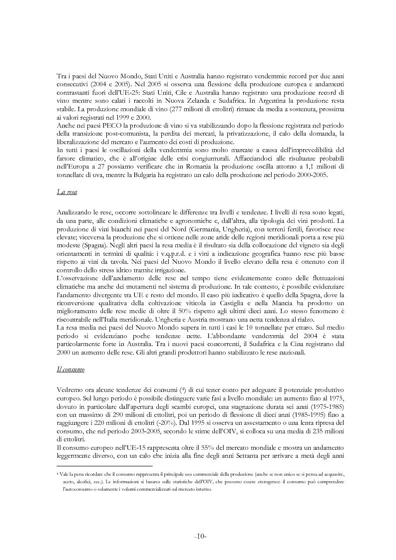 Anteprima della tesi: L'economia del settore vitivinicolo in Europa ed in Italia - Illustrazione dei percorsi economici per una riforma del settore, Pagina 6