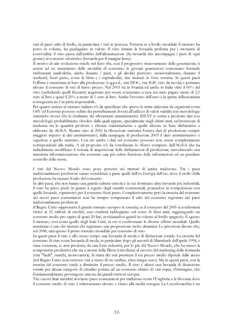 Anteprima della tesi: L'economia del settore vitivinicolo in Europa ed in Italia - Illustrazione dei percorsi economici per una riforma del settore, Pagina 8