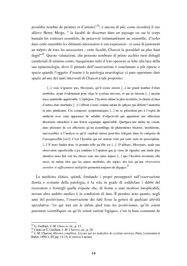 """Anteprima della tesi: L'isteria nel romanzo francese """"fin de siècle"""": Charcot e la sua dottrina in Claretie e Bonnetain, Pagina 11"""