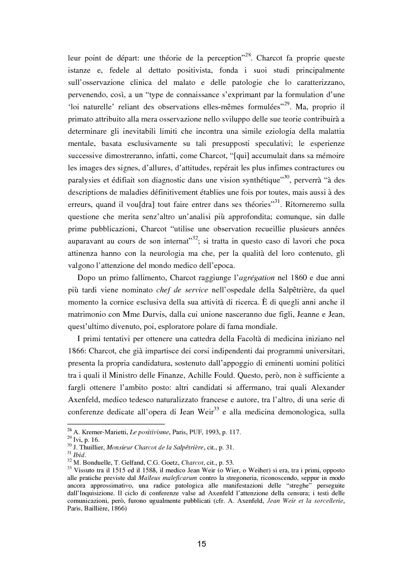 """Anteprima della tesi: L'isteria nel romanzo francese """"fin de siècle"""": Charcot e la sua dottrina in Claretie e Bonnetain, Pagina 12"""