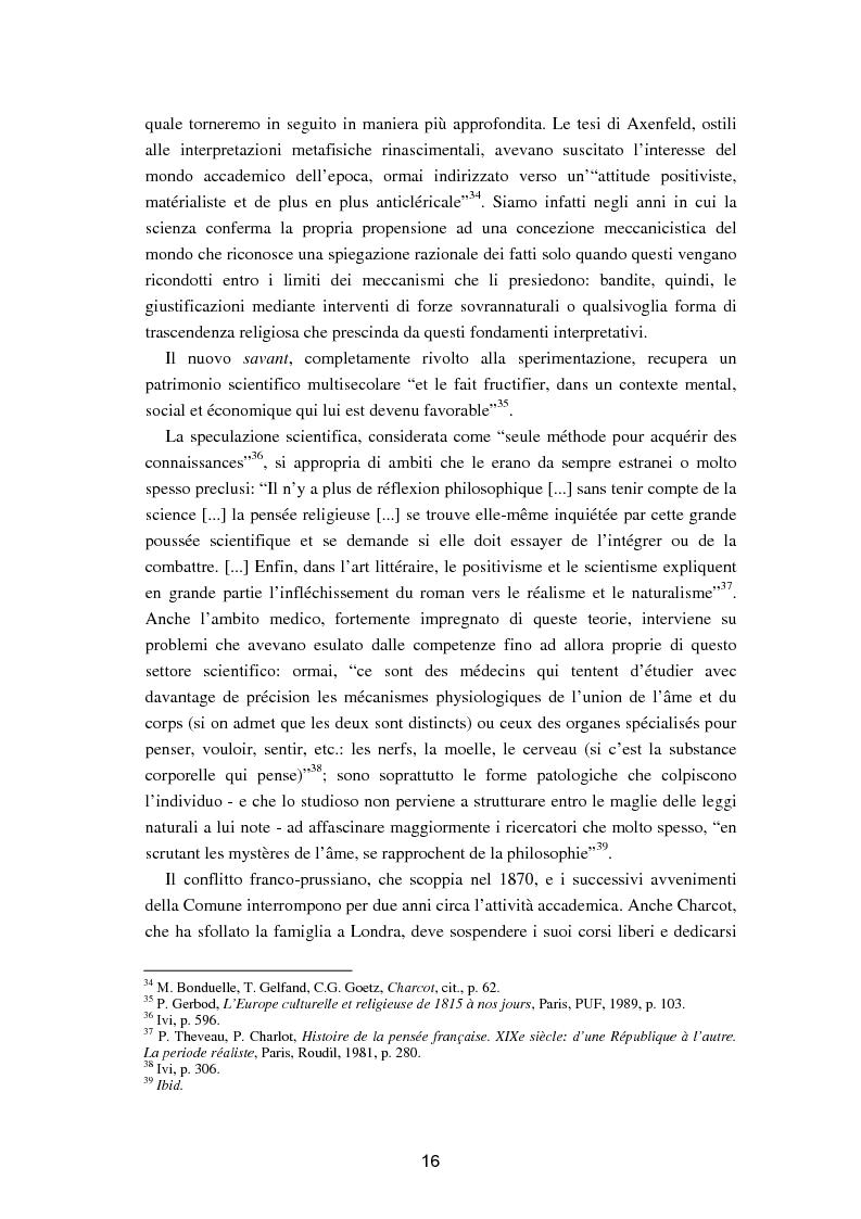 """Anteprima della tesi: L'isteria nel romanzo francese """"fin de siècle"""": Charcot e la sua dottrina in Claretie e Bonnetain, Pagina 13"""