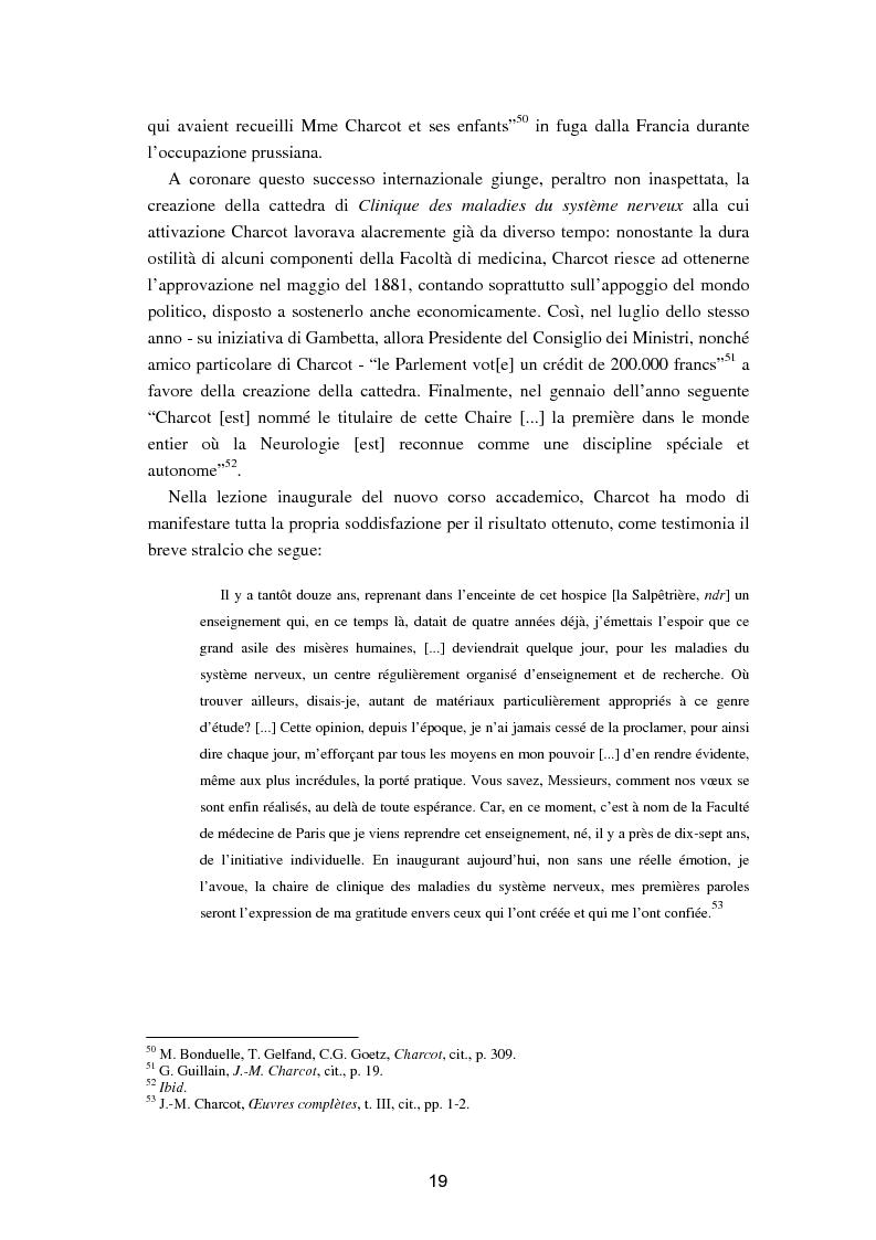"""Anteprima della tesi: L'isteria nel romanzo francese """"fin de siècle"""": Charcot e la sua dottrina in Claretie e Bonnetain, Pagina 16"""