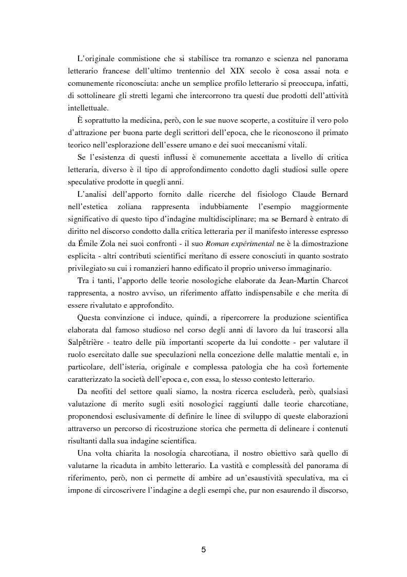 """Anteprima della tesi: L'isteria nel romanzo francese """"fin de siècle"""": Charcot e la sua dottrina in Claretie e Bonnetain, Pagina 2"""