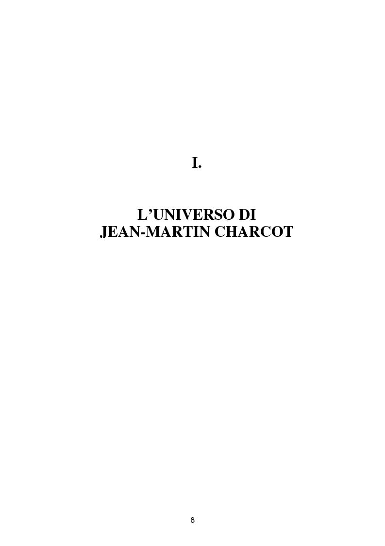 """Anteprima della tesi: L'isteria nel romanzo francese """"fin de siècle"""": Charcot e la sua dottrina in Claretie e Bonnetain, Pagina 5"""