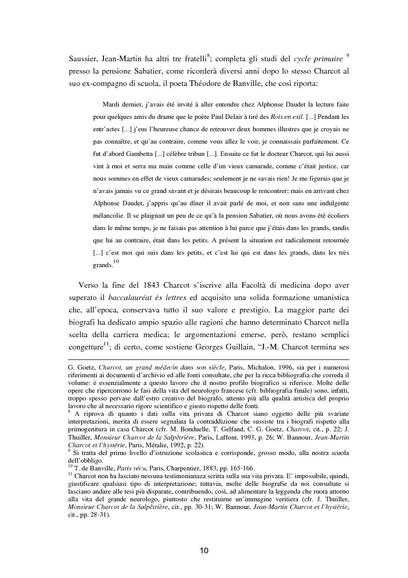 """Anteprima della tesi: L'isteria nel romanzo francese """"fin de siècle"""": Charcot e la sua dottrina in Claretie e Bonnetain, Pagina 7"""