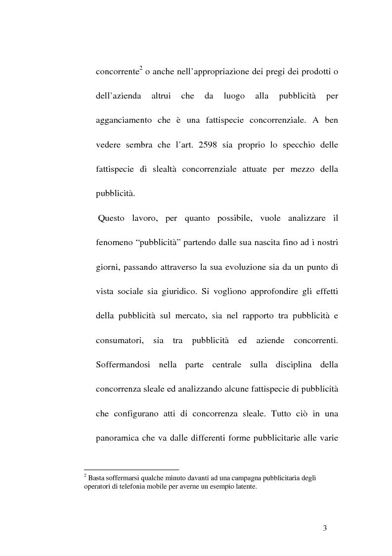 Anteprima della tesi: Concorrenza sleale e pubblicità, Pagina 3