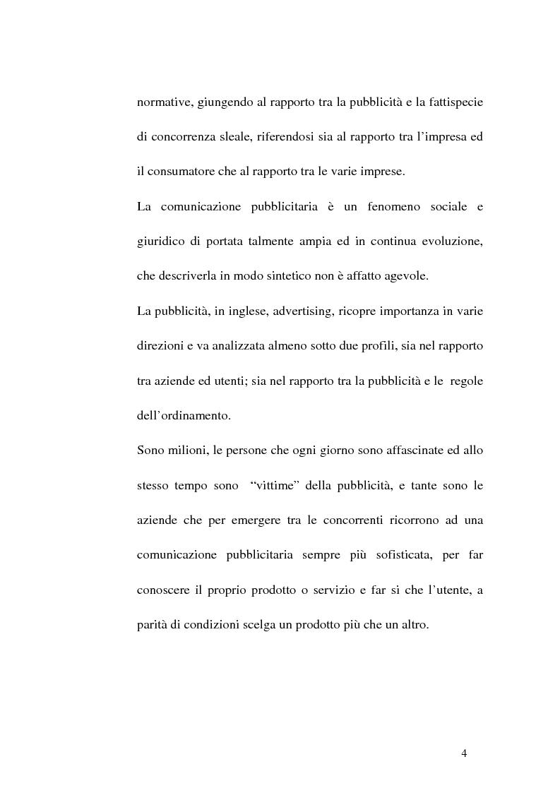 Anteprima della tesi: Concorrenza sleale e pubblicità, Pagina 4
