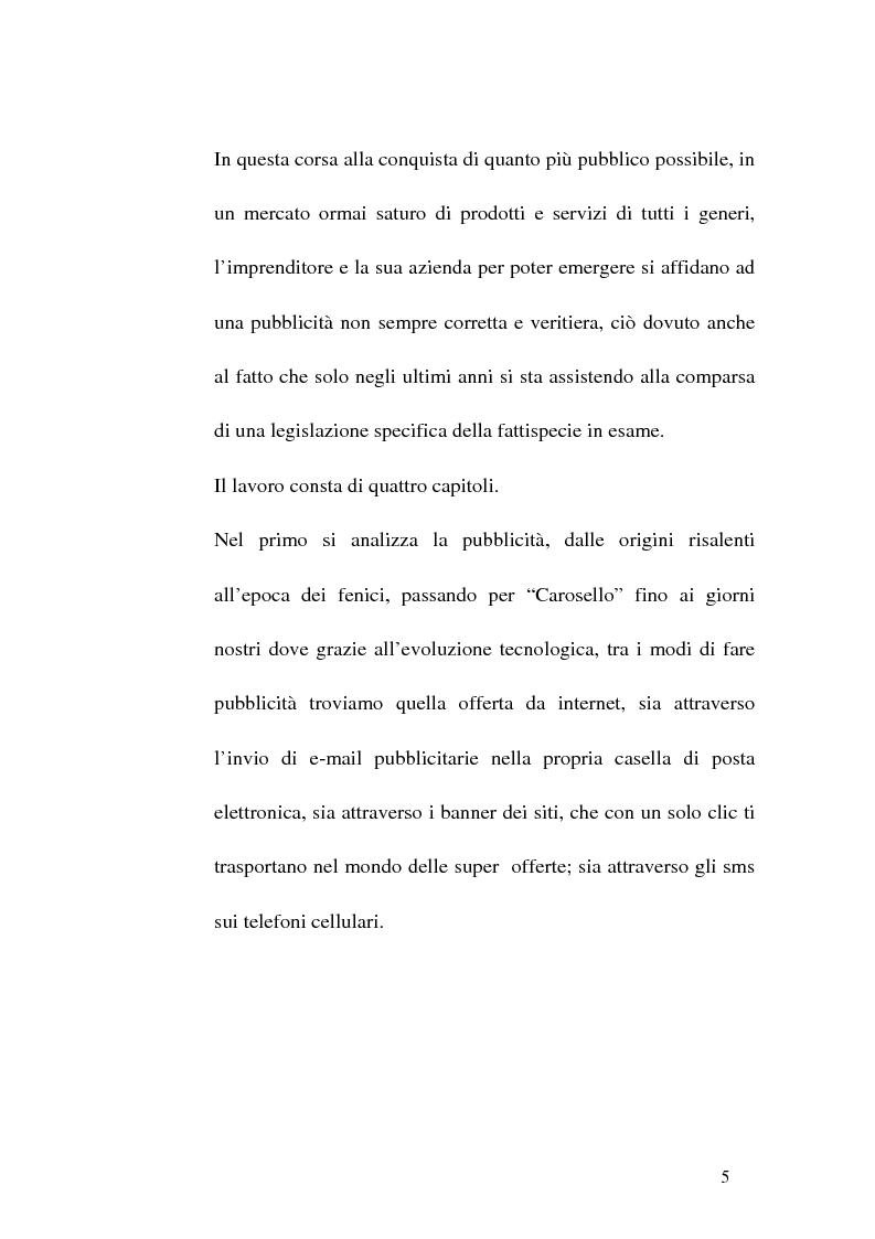 Anteprima della tesi: Concorrenza sleale e pubblicità, Pagina 5