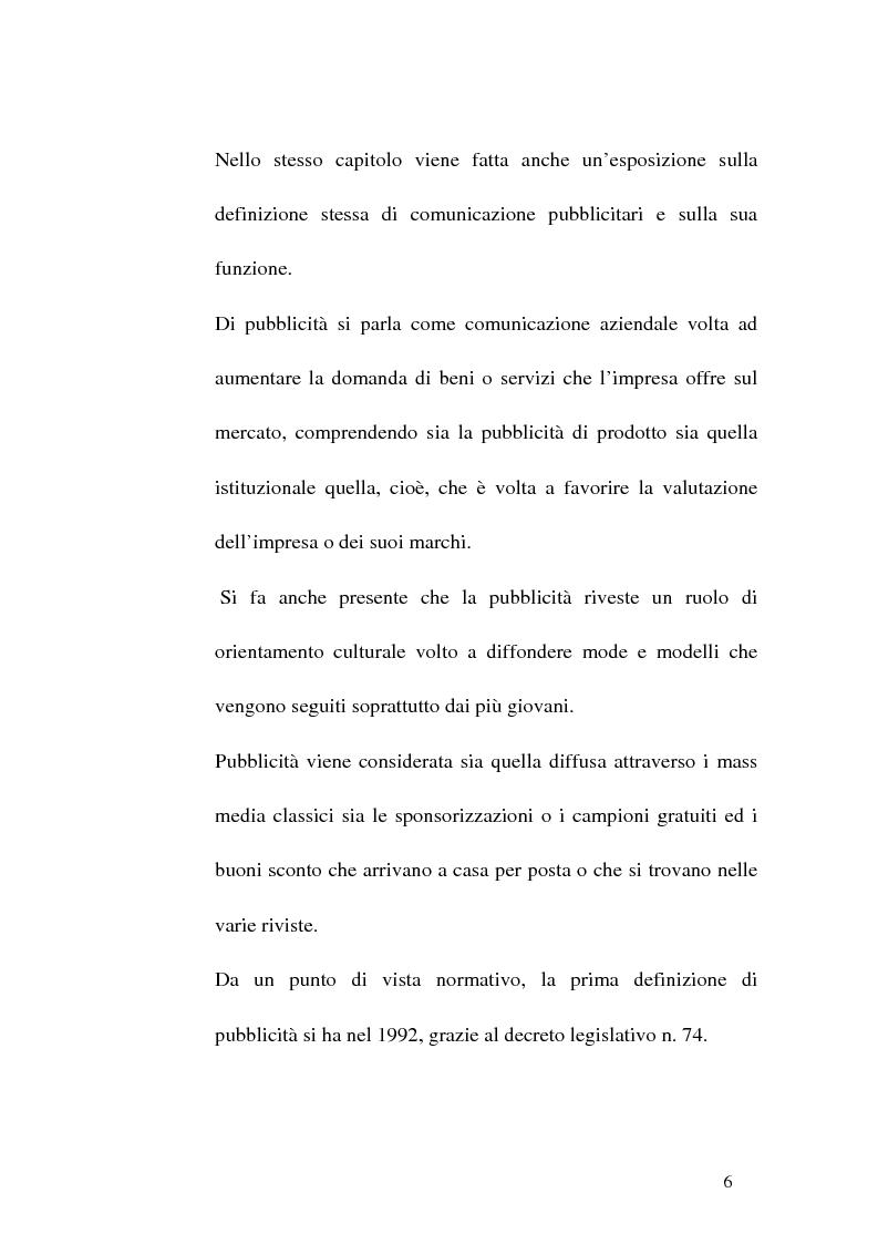 Anteprima della tesi: Concorrenza sleale e pubblicità, Pagina 6