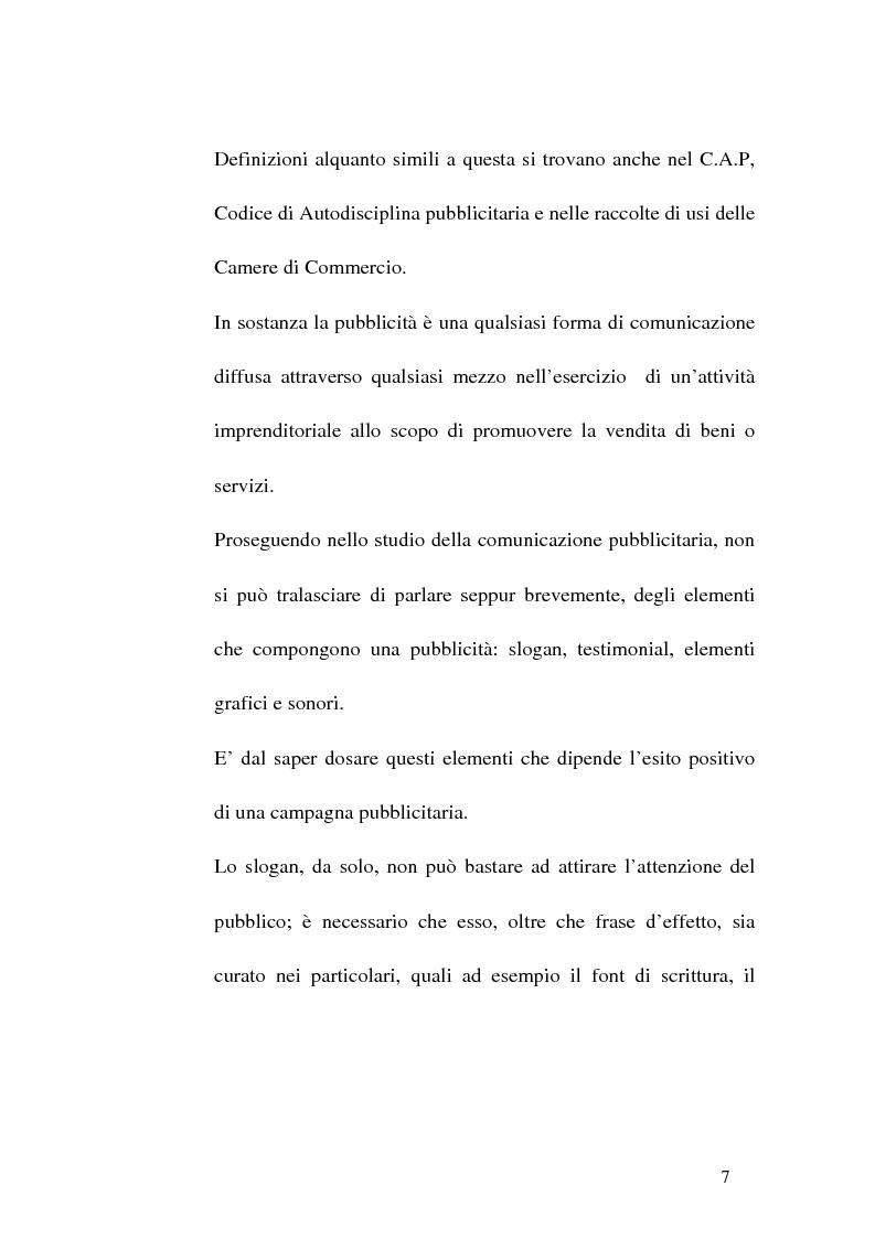 Anteprima della tesi: Concorrenza sleale e pubblicità, Pagina 7