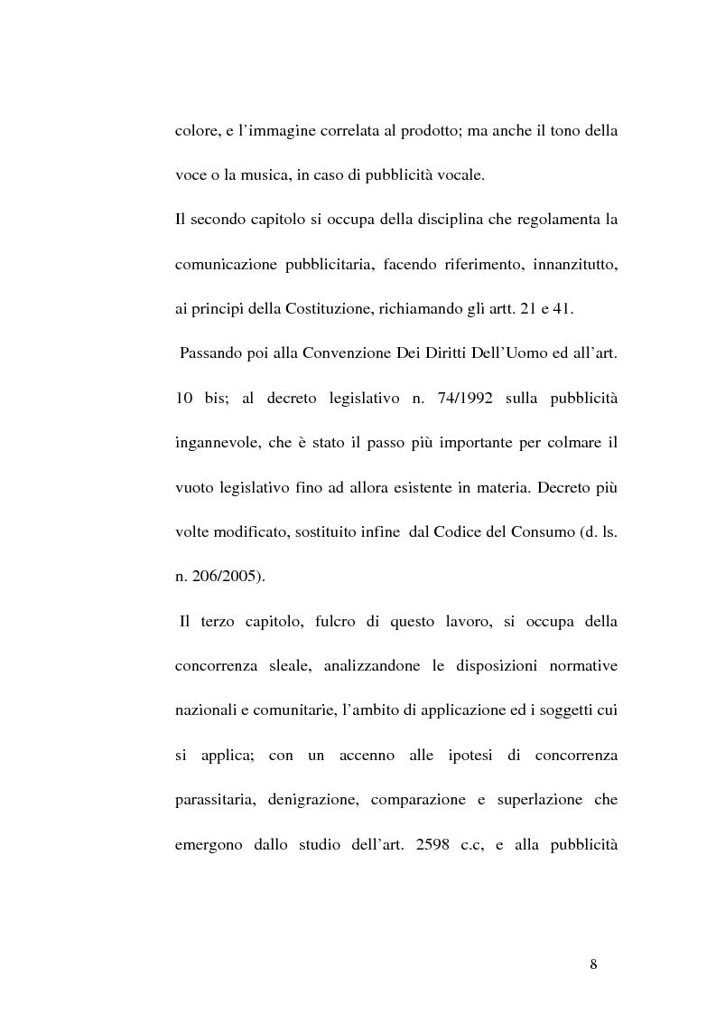 Anteprima della tesi: Concorrenza sleale e pubblicità, Pagina 8