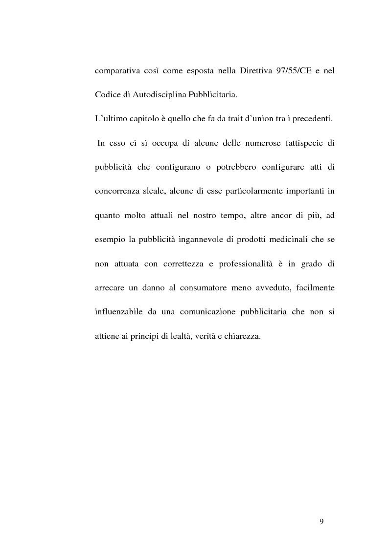 Anteprima della tesi: Concorrenza sleale e pubblicità, Pagina 9
