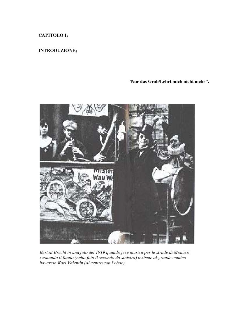 Anteprima della tesi: Der gute Mensch von Sezuan e il Brecht maturo nel contesto del '900, Pagina 1