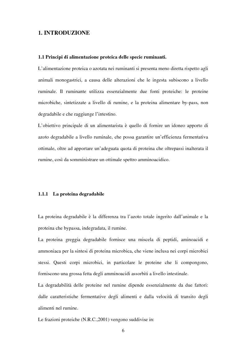 Anteprima della tesi: Utilizzo di fonti proteiche alternative alla soia nell'alimentazione biologica della vacca da latte in alpeggio, Pagina 1