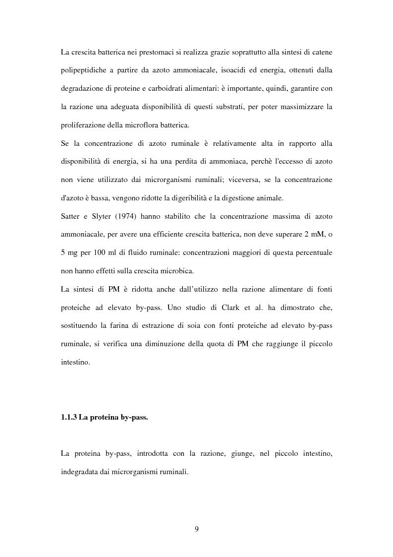 Anteprima della tesi: Utilizzo di fonti proteiche alternative alla soia nell'alimentazione biologica della vacca da latte in alpeggio, Pagina 4