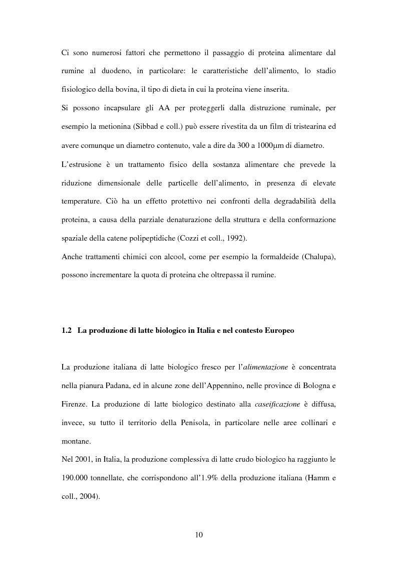 Anteprima della tesi: Utilizzo di fonti proteiche alternative alla soia nell'alimentazione biologica della vacca da latte in alpeggio, Pagina 5