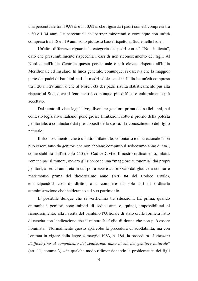 Anteprima della tesi: La maternità in adolescenza: fattori di rischio e di protezione e modelli di intervento, Pagina 10