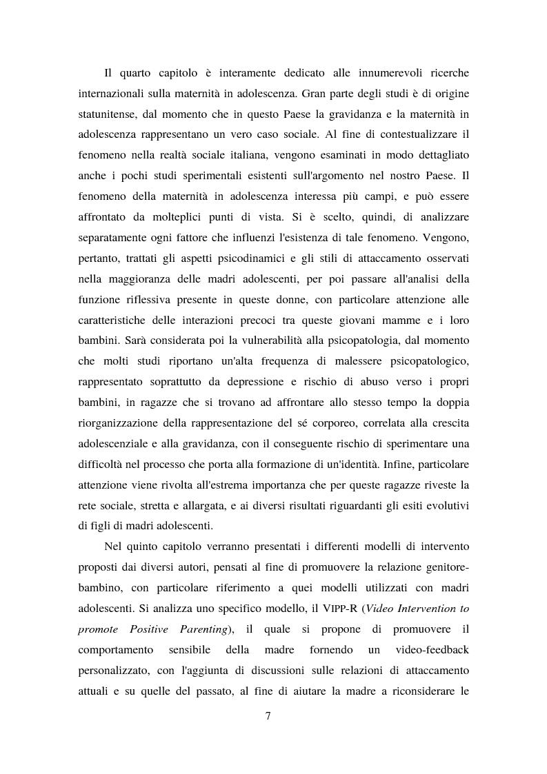 Anteprima della tesi: La maternità in adolescenza: fattori di rischio e di protezione e modelli di intervento, Pagina 2