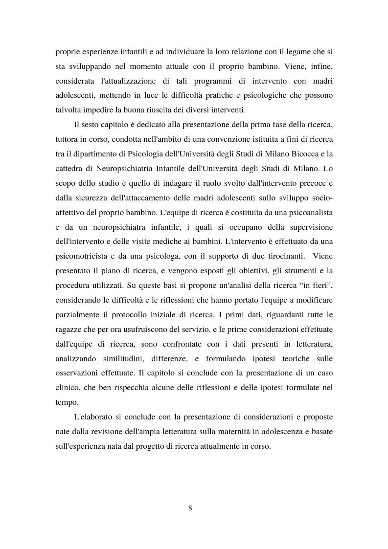 Anteprima della tesi: La maternità in adolescenza: fattori di rischio e di protezione e modelli di intervento, Pagina 3
