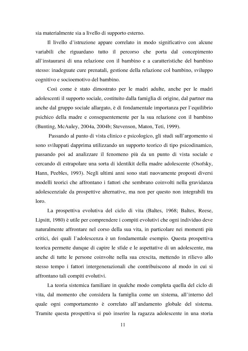 Anteprima della tesi: La maternità in adolescenza: fattori di rischio e di protezione e modelli di intervento, Pagina 6