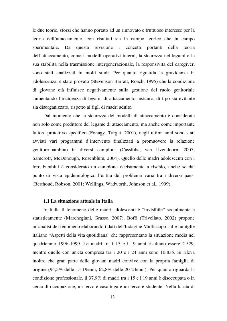 Anteprima della tesi: La maternità in adolescenza: fattori di rischio e di protezione e modelli di intervento, Pagina 8