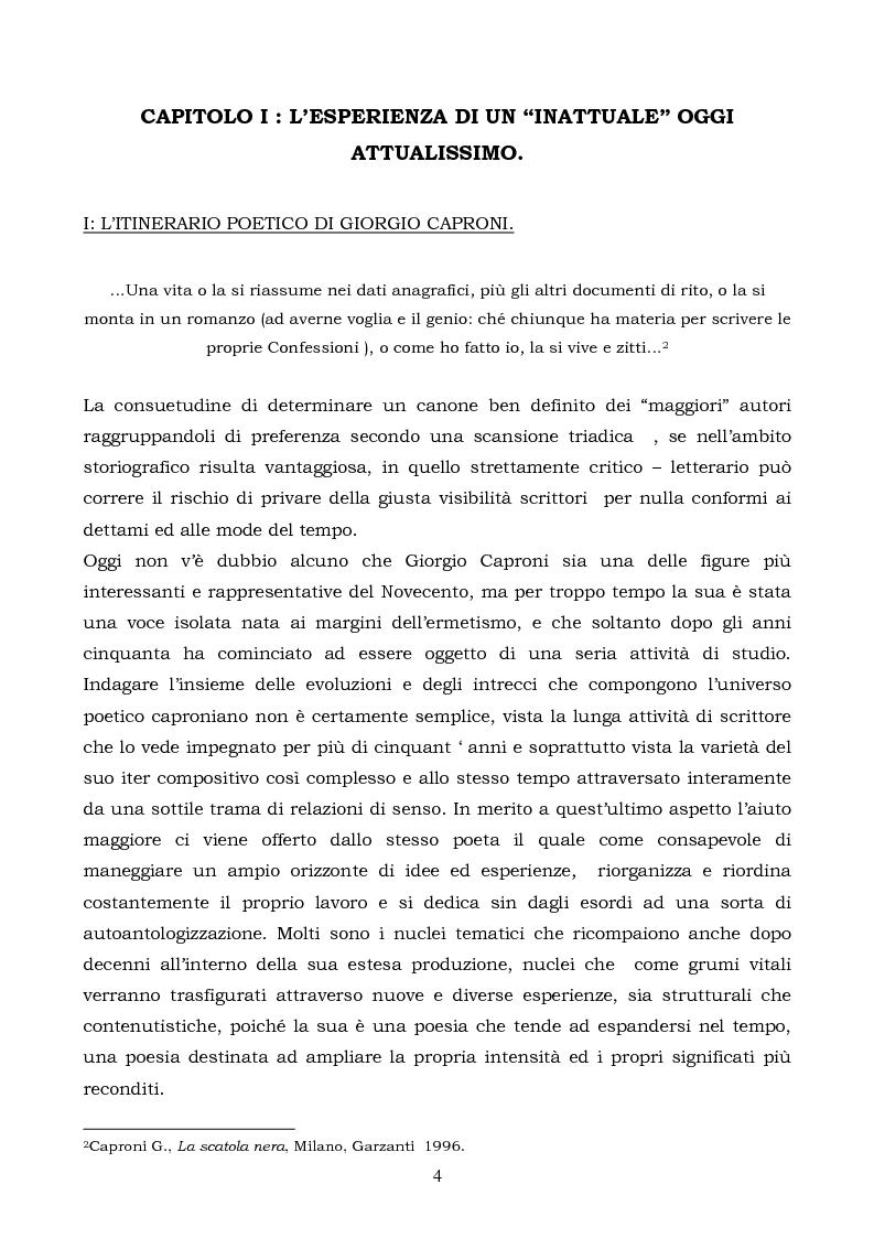 Anteprima della tesi: La logica binaria dell'ultimo Caproni, Pagina 4