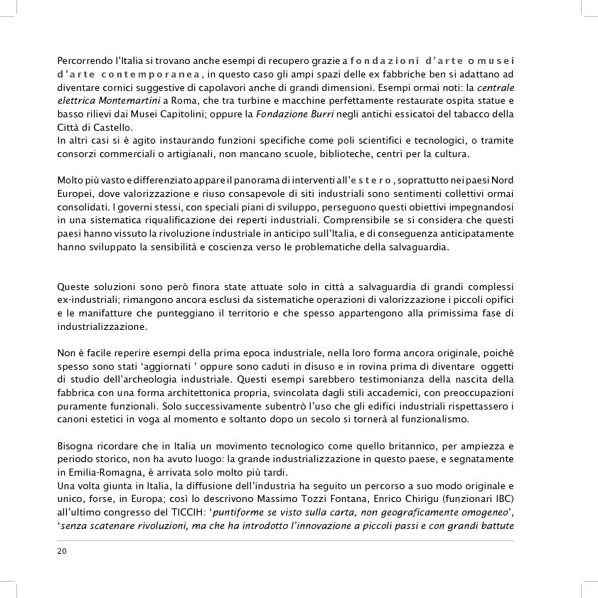 Anteprima della tesi: Valorizzazione dell'area dell'ex fornace Lolli di Fusignano (RA): ipotesi di restauro e allestimento dei reperti industriali e di progetto di un nuovo polo di formazione professionale, Pagina 8