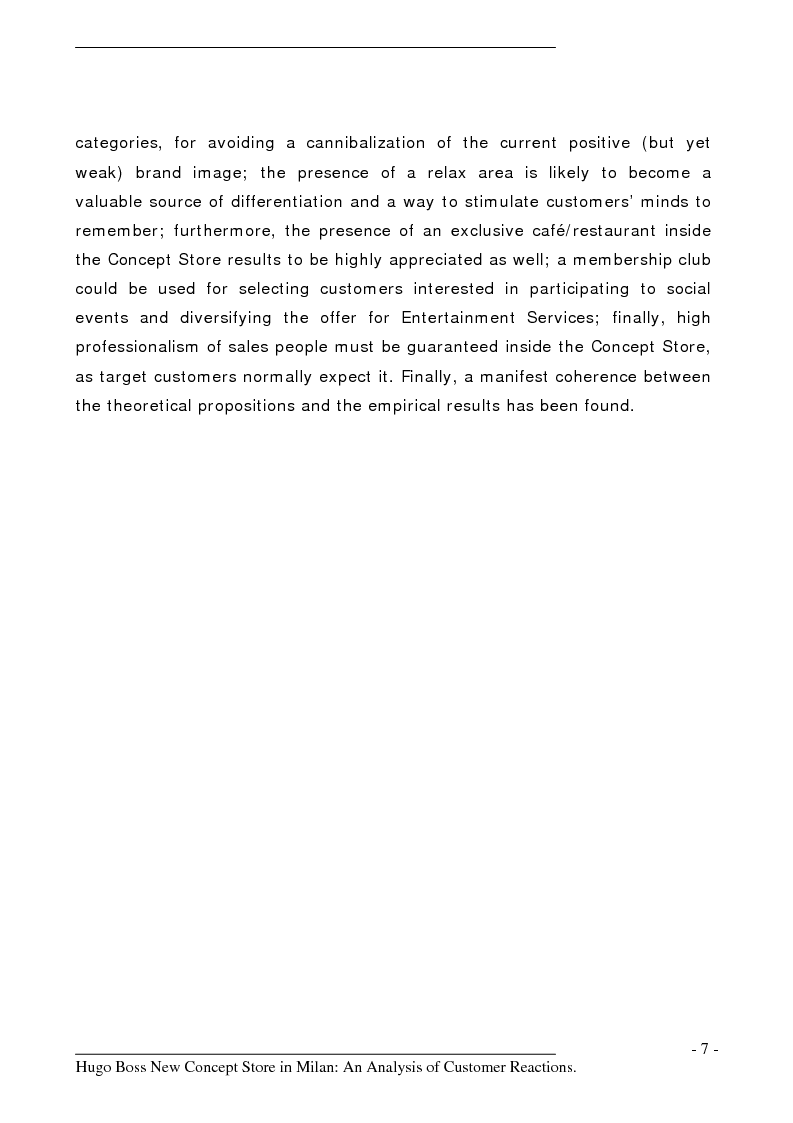 Anteprima della tesi: Hugo Boss New Concept Store in Milan: an Analysis of Customer Reactions, Pagina 2
