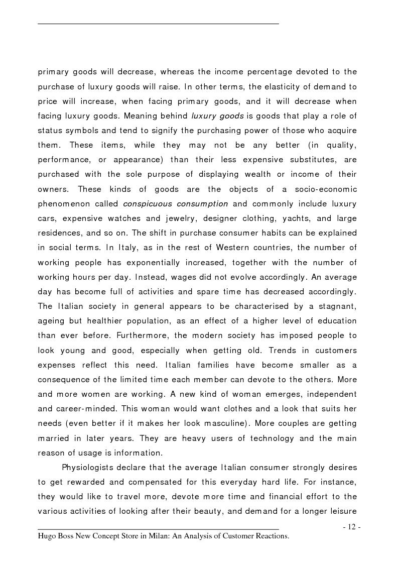 Anteprima della tesi: Hugo Boss New Concept Store in Milan: an Analysis of Customer Reactions, Pagina 7