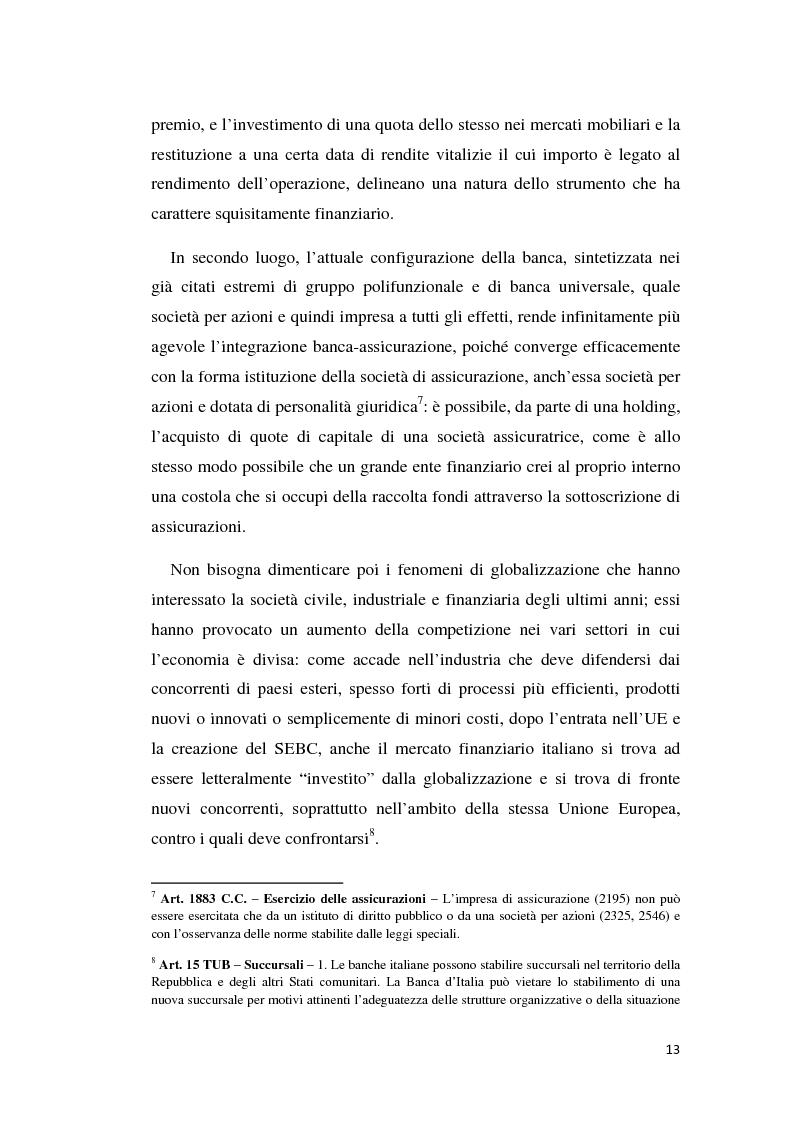 Anteprima della tesi: Integrazione banca-assicurazione: il caso Unipol, Pagina 10