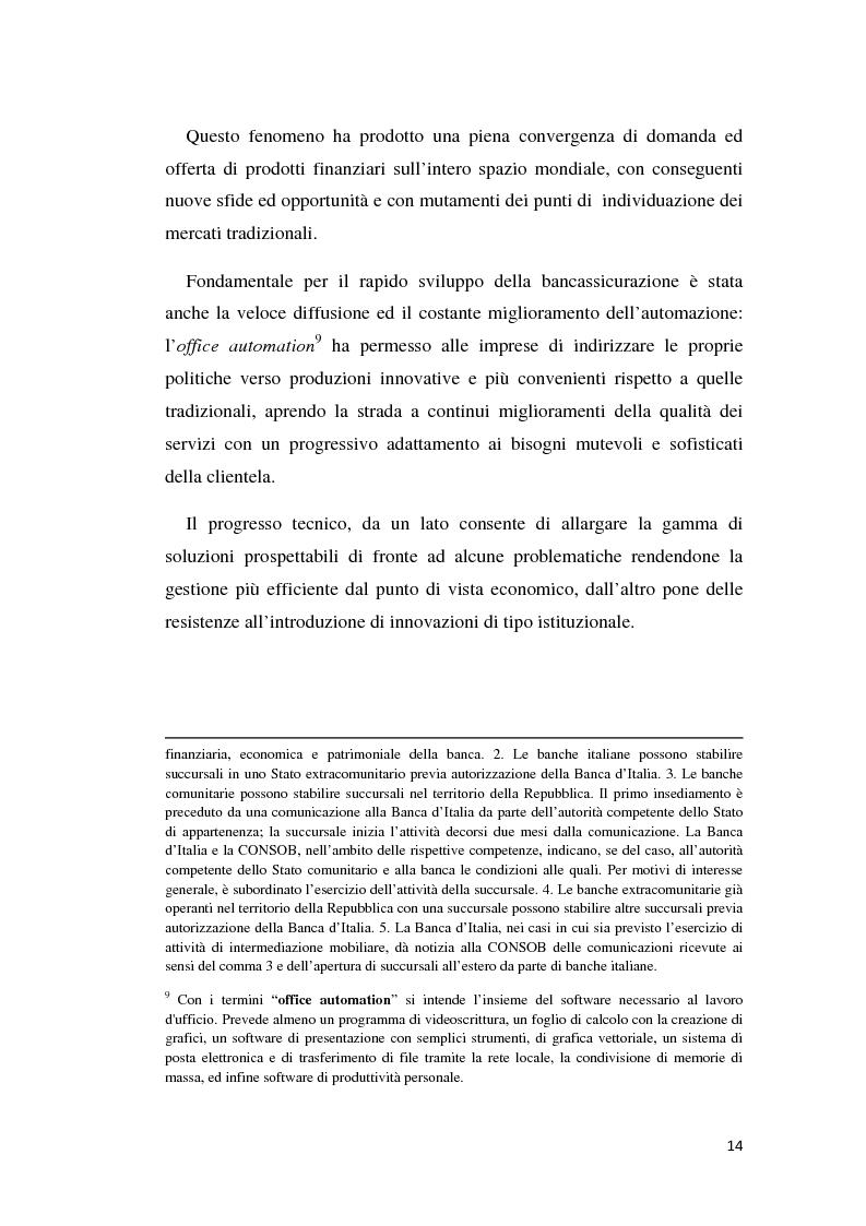 Anteprima della tesi: Integrazione banca-assicurazione: il caso Unipol, Pagina 11
