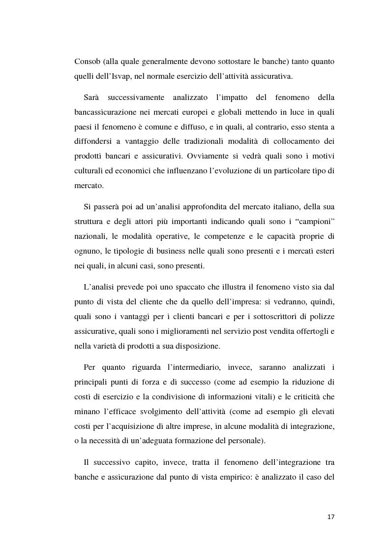 Anteprima della tesi: Integrazione banca-assicurazione: il caso Unipol, Pagina 14