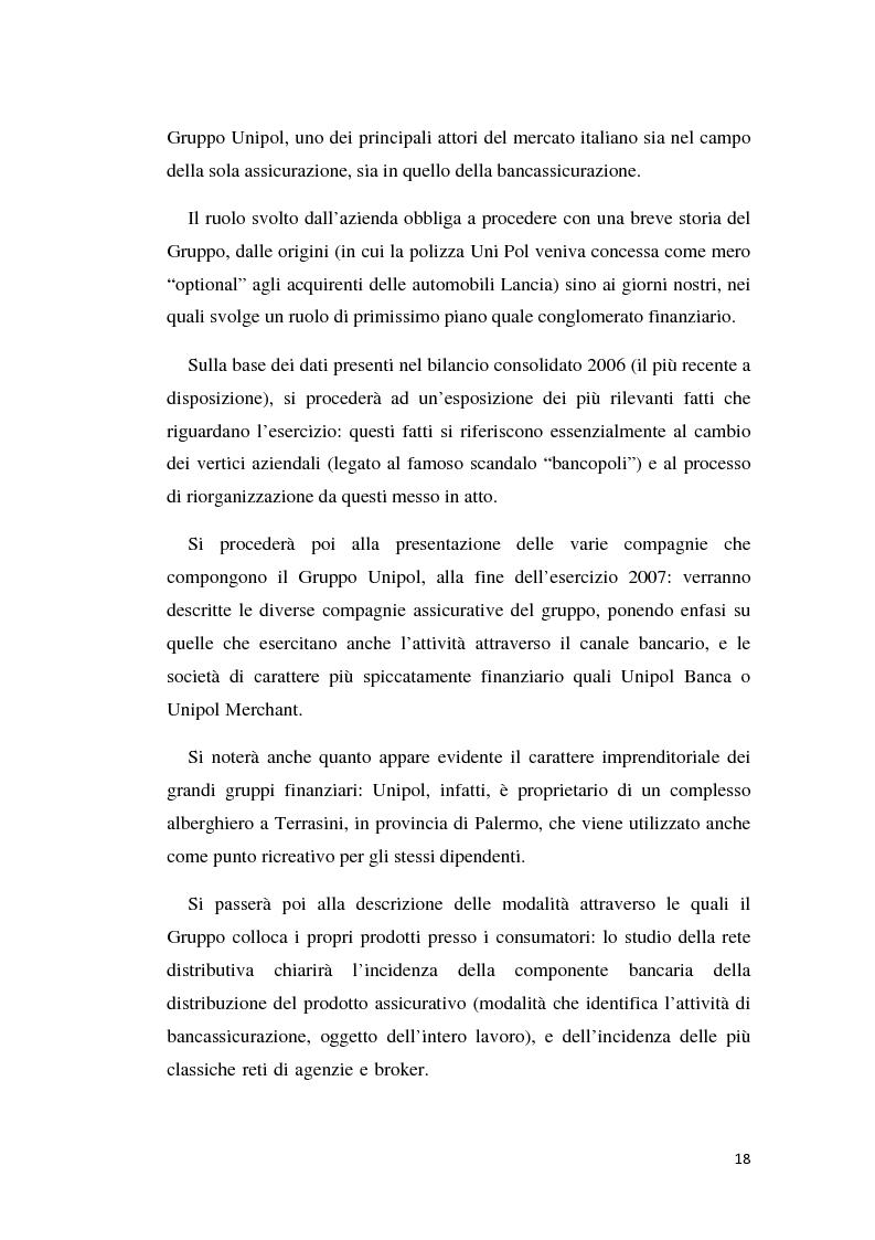 Anteprima della tesi: Integrazione banca-assicurazione: il caso Unipol, Pagina 15