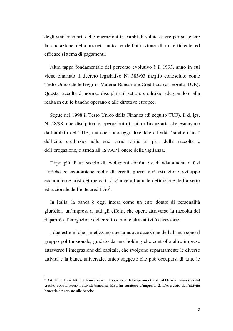 Anteprima della tesi: Integrazione banca-assicurazione: il caso Unipol, Pagina 6