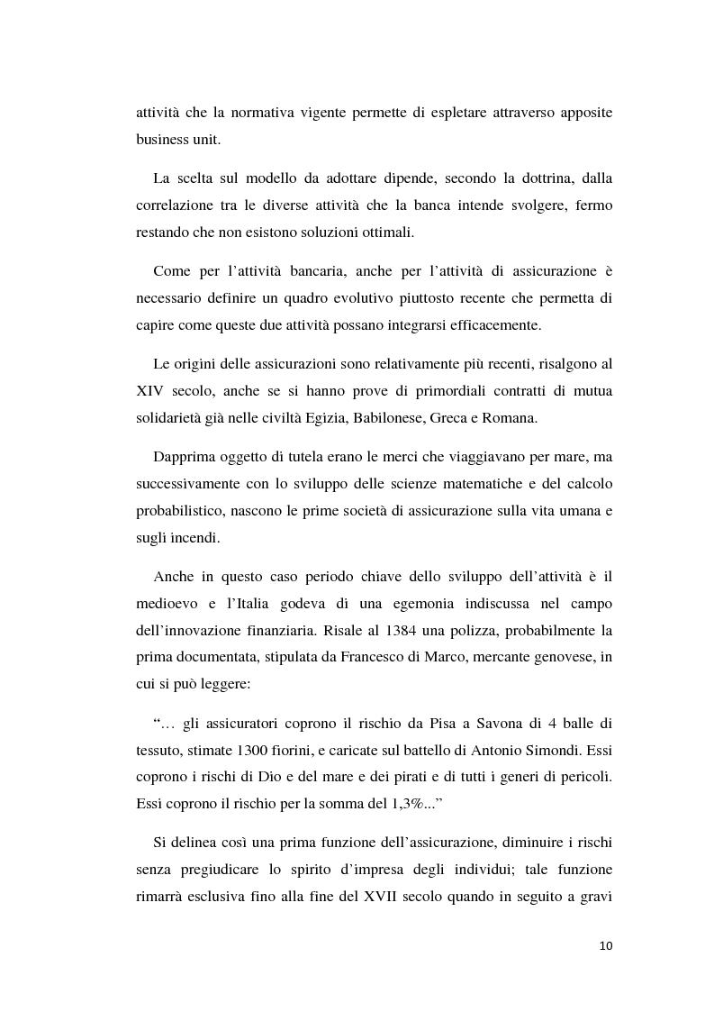 Anteprima della tesi: Integrazione banca-assicurazione: il caso Unipol, Pagina 7